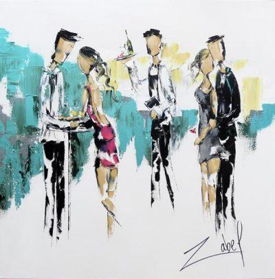 Zabel Artiste-Peintre - Online Art Gallery - Au Bistro 36x36