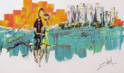 Zabel Artiste-Peintre - Sur la Rive 36x60