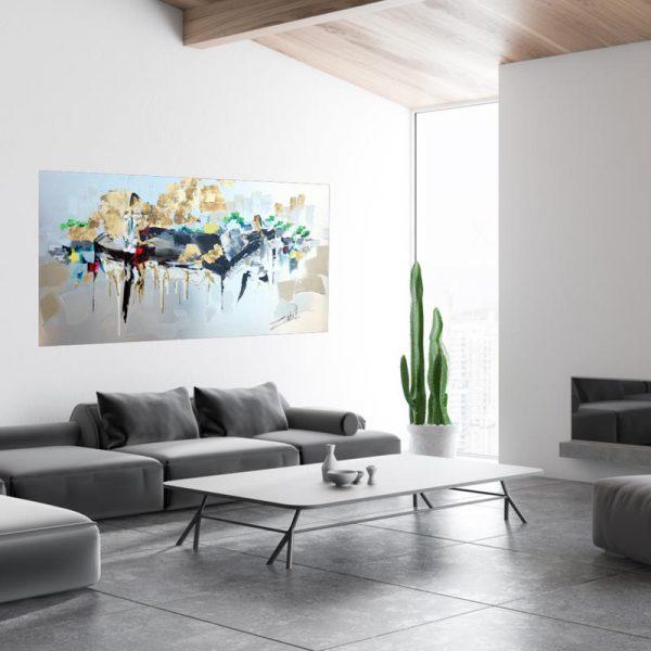 Art sur aluminium 30x60 en contexte_web