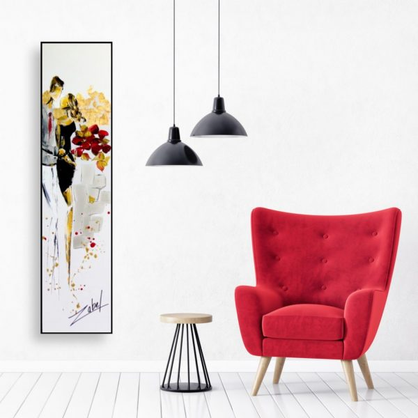 Champagne and roses - Zabel - Art - Red interior design