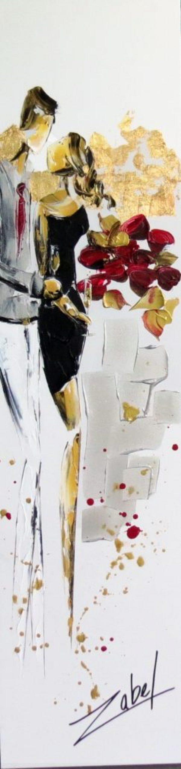 Zabel - Champagne and rose - 12x48