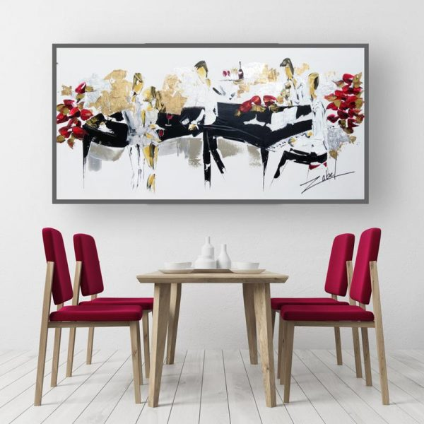 Zabel - Merlot and Roses 24x48 modern dinning room_web