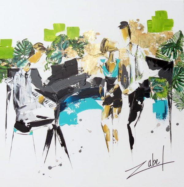 Zabel - Musique tropicale 80x80cm_web