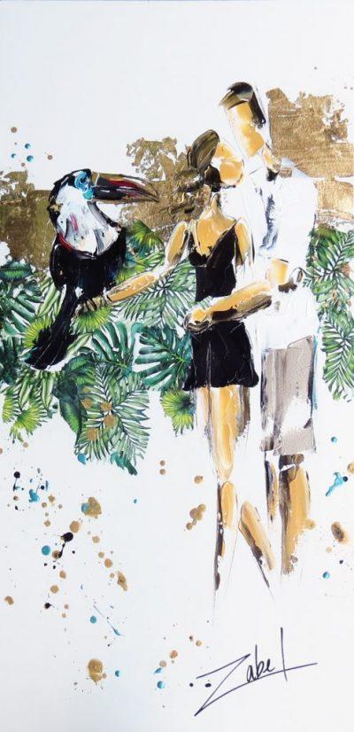 Zabel -Un amour de Toucan 40x20