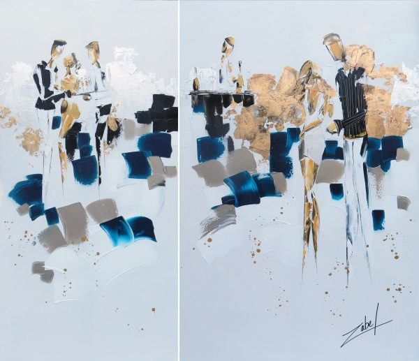 Dyptique Ready for champagne 40x60
