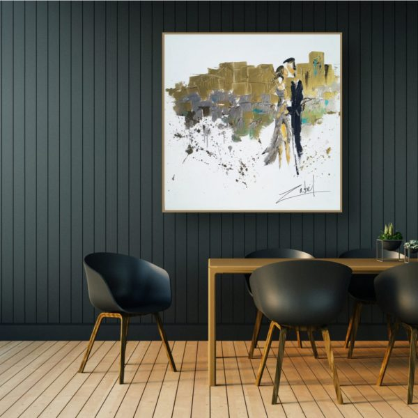 Salle à manger contemporaine et Zabel Artiste peintre
