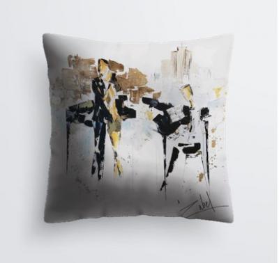 Musique et Champagne cushion