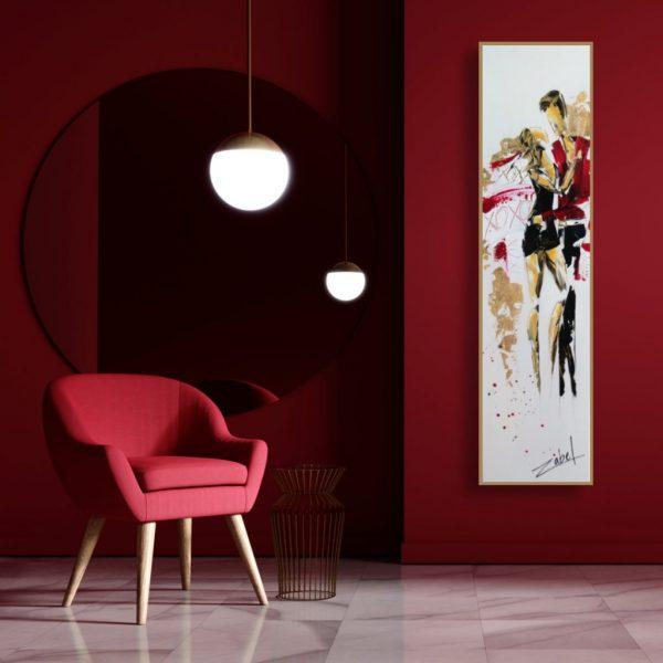 XOXO in contexte red interior design