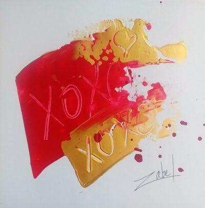 XOXO on paper 1 8x8