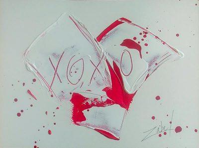 XOXO on paper 3 9x12