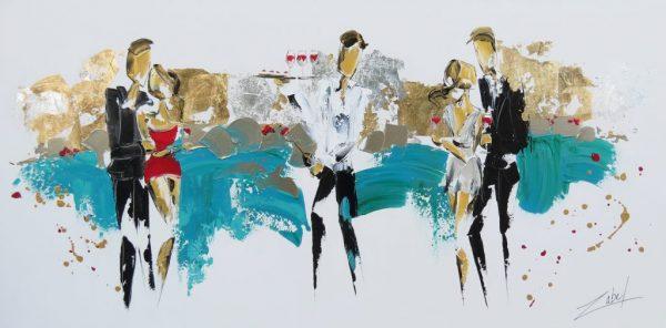 Zabel-artiste-peintre-Cocktail en bord de mer30x60
